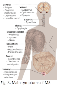 Symptoms of MS
